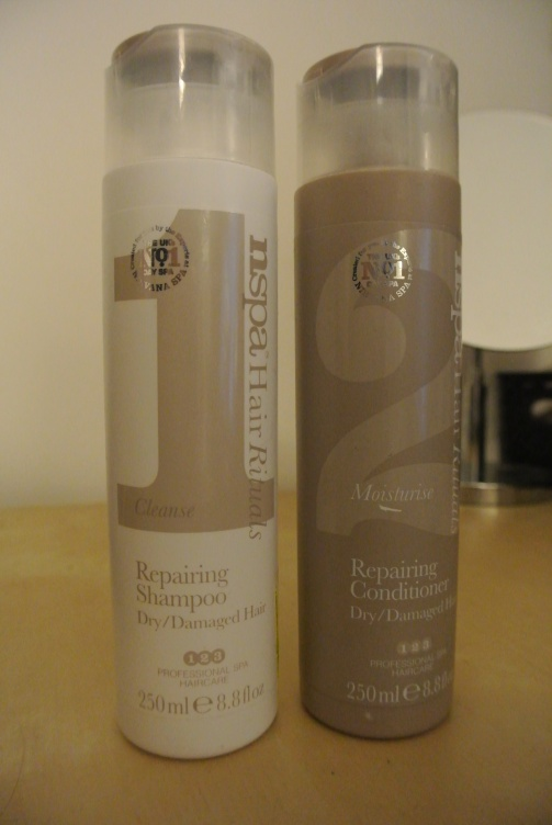 NSPA Hair Rituals repairing Shampoo and conditioner